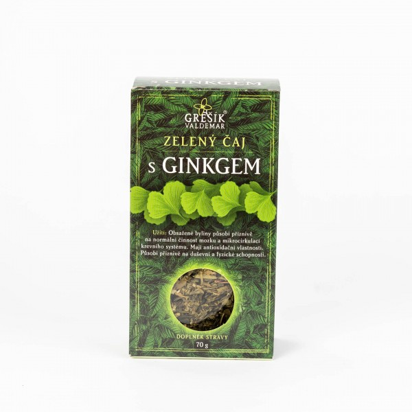 Zelený čaj s ginkom, 70g