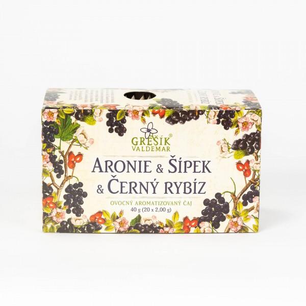 Arónia & Šípka & Čierna ríbezľa, 20x2 g