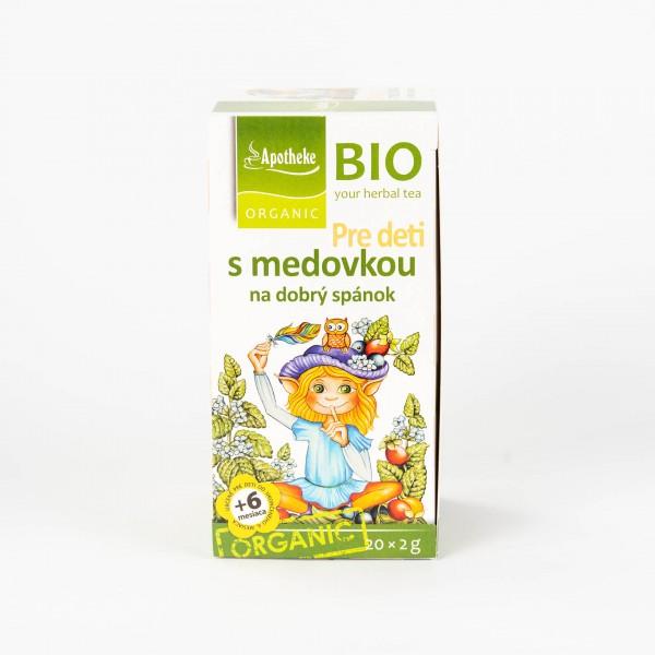 Detský ovocný čaj s medovkou na dobrý spánok, 20x2 g