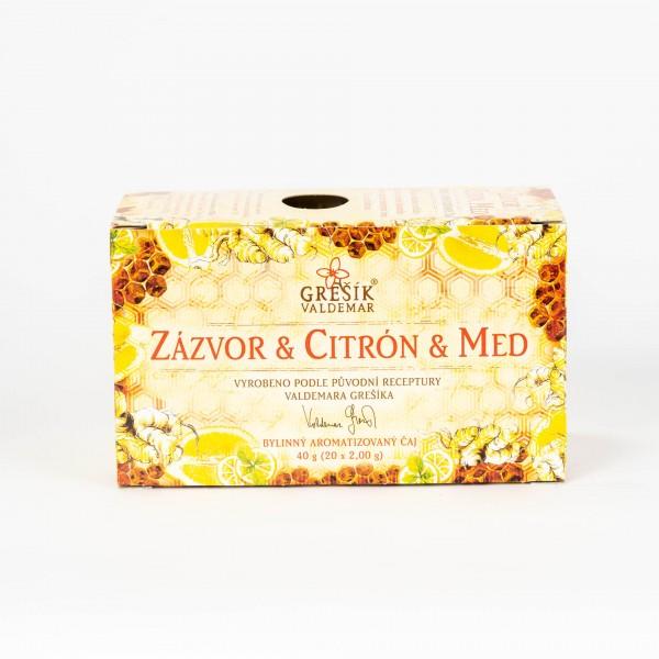 Zázvor & Citrón & Med, 20x2 g