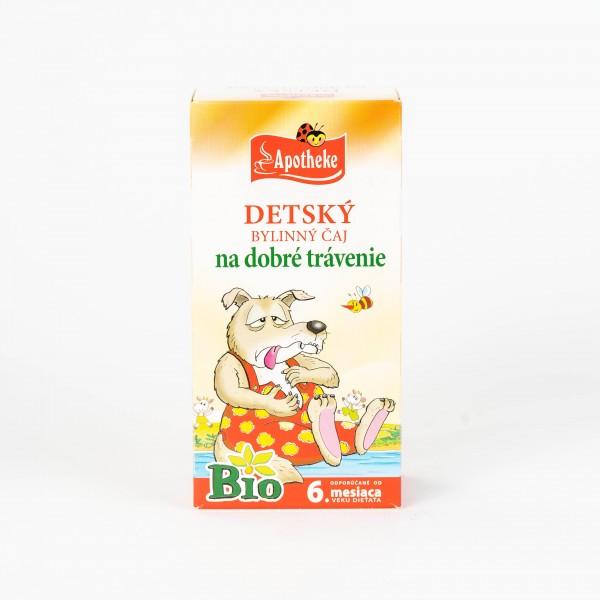 Detský čaj na dobré trávenie, Bio 20x1,5 g