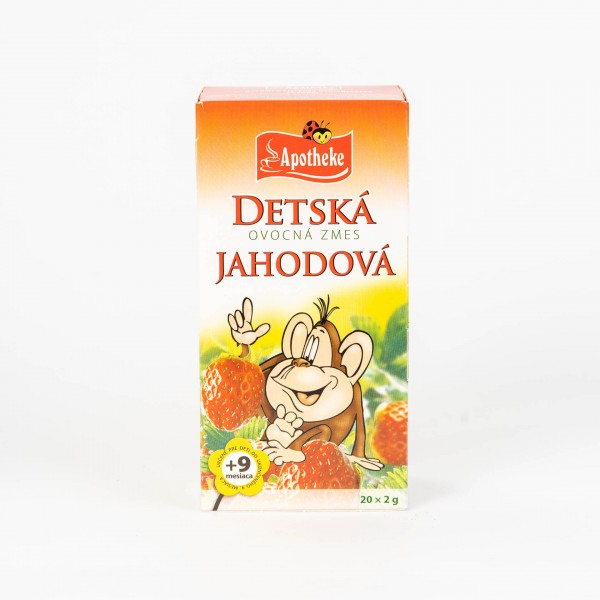 Detský ovocný čaj Jahodový, 20x2 g