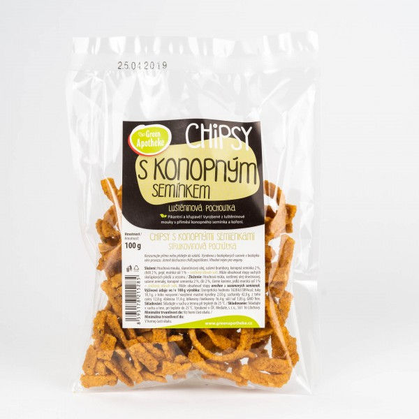 Chipsy s konopnými semienkami, 100g