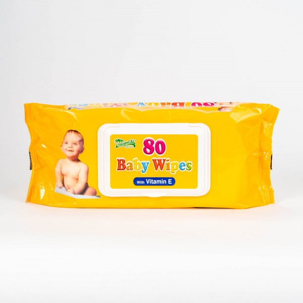 Baby Wipes - Vitamín E, 80 ks