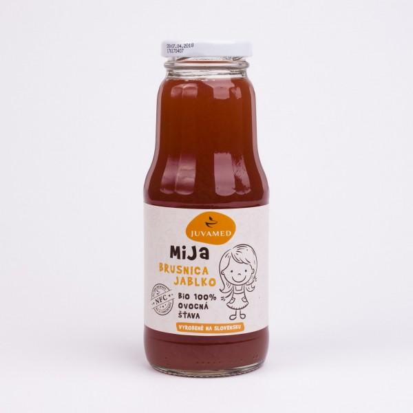 MiJa BIO Brusnica jablko, 250 ml