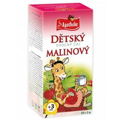 Detský ovocný čaj Malinový, 20 x 2g