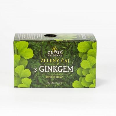 Zelený čaj s ginkom, 20x1,5g