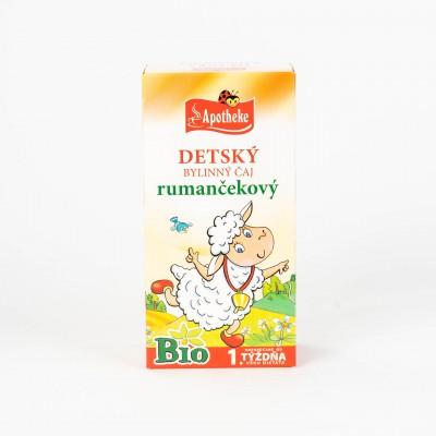Detský bylinný čaj rumančekový BIO, 20x1g