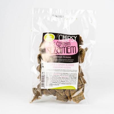 Chipsy s čiernym sézamom, 100g