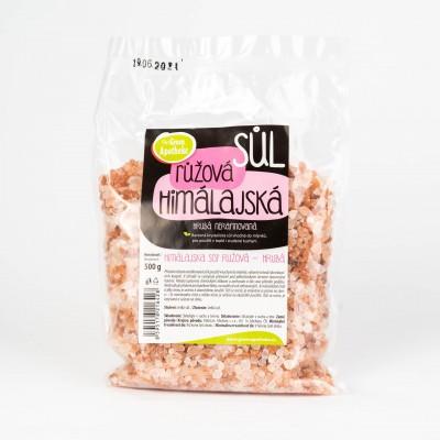 Himalájska soľ ružová hrubá, 500g