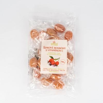 Šípkové cukríky s vitamínom C, 100g