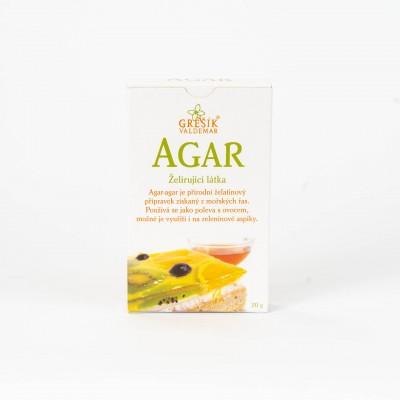 AGAR - želírujúca látka, 20 g