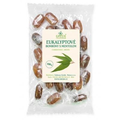 Eukalyptové cukríky s mentolom, 100 g